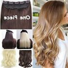 UK SELLER SYNTHETIC clip-in hair extensions one piece  look real all colors