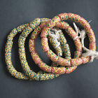 African Beads Recycled Glass Tubes 18 mm Handmade Krobo Pretty Cheery Colours
