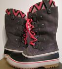 Womens 6-6.5-7-7.5-8-9 Sorel Joan of Arctic Knit Leather Winter Insulated Boots