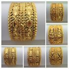 Indian Ethnic Bollywood Traditional Gold Plated Jewelry 6 PS Bangle Bracelet Set