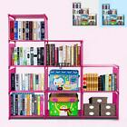 Home Bookcase 9 Shelf Bookshelf Adjustable Furniture Storage Shelving Book
