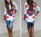 New Women's Loose Long Sleeve Cotton Casual Blouse Shirt Tops Fashion T-shirt