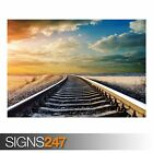 RAILWAY (AB008) TRAIN POSTER - Photo Picture Poster Print Art A0 A1 A2 A3 A4