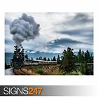 OLD TRAIN (AB009) TRAIN POSTER - Photo Picture Poster Print Art A0 A1 A2 A3 A4