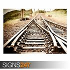 TRAIN TRACKS (AB030) TRAIN POSTER - Photo Picture Poster Print Art A0 to A4