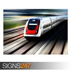 HIGH SPEED TRAIN (AB015) TRAIN POSTER - Photo Picture Poster Print Art A0 to A4