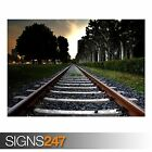 RAILROAD TRACK (AB016) TRAIN POSTER - Photo Picture Poster Print Art A0 to A4