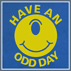 Have An Odd Day Funny T Shirt saying beer ufo Weird Strange alien smiley face T