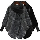 Fashion Womens Warm Long Sleeved Woolen Jackets Knit Collar Winter Wool Coats