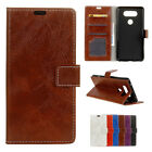 Luxury Retro Flip Wallet PU Leather Case Card Slot Stand Cover Skin For LG V20