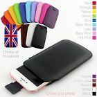 Quality Leather Slim Pull Tab Flip Pouch Sleeve Phone Case Cover for HTC