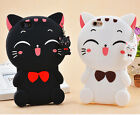 3D Cute Cartoon Lucky Cat Soft Silicone Phone Back Case Cover Skin For Phones