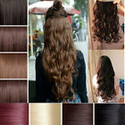 """UK seller Full head hair extensions one-piece straight wavy 24"""" curly straight"""