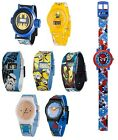 Kids Character Wrist Watch DC Marvel Adventure Time Star Wars Gift for him her