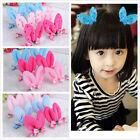 3 Pairs Child Headware Loverly Rabbit Ear Hairpin Hair Accessory Clips Mix Color