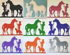 COWGIRL HORSE & CATTLE DOG - CAR / HORSE FLOAT DECAL choose your COLOUR & size