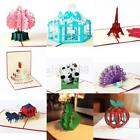 3D Pop Up Christmas Invitation Greeting Cards Happy New Year