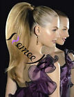 "120G Straight Ponytail Clip-on Human Hair Extensions 18"" 22"" 26"" 30"" many colors"
