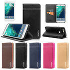 Magnetic Closure Genuine Leather Wallet Case Cover for Google Pixel / Pixel XL