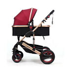 Newly Baby Stroller Luxury Infant Foldable Pram Sunshade Travel System Pushchair