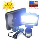 LOT4 100LED Garden Outdoor Solar Powerd Motion Sensor Light Security Flood Lamp