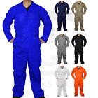 Mens Long Sleeve Coverall Overall Mechanic Boilersuit Protective Work Suit