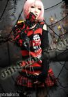GLP Black & Red Striped Jumper with Black Sleeve Gothic Punk 71188