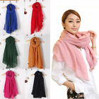 New Lady Women Fashion long Candy Colors Soft Cotton Scarf Wrap Shawl Scarves