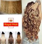"uk seller one piece clip-in full head 24"" hair extensions straight wavy"