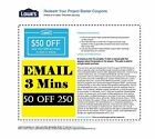 THREE (3x) Lowes $50 OFF $250 PRINTABLE-Coupons EXP 2 7 17 Super Fast Email--