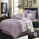 Cal King Size 8PC Bliss Bed in A Bag Includes Bed Skirt a...