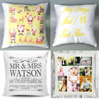 Personalised Cushion Cover Pillow Case Logo Text Photo Gift Custom Made Printed
