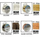 Tarnish Resistant Silver, Gold, Vintage Bronze BeadSmith Artistic Craft Wire
