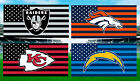 Raiders Broncos Chiefs Chargers Team Colors High Gloss License Plate Football $14.87 USD on eBay