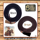 WESTERN MECATE REIN~ 22FT WITH LEATHER POPPER & HORSE HAIR TASSEL~BLACK OR BROWN