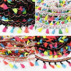 2/5/10Yds Tassel Fringe Edging Trim Furnishing & Costumes Curtain Sewing Crafts