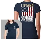Nine Line Women's Navy I Stand for the National Anthem T-Shirt 06STANDV2