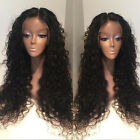 Brazilian Spanish Wave Remy Human Full/Front Lace Wig Baby Hair Bleached Knots