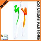 Irish Flag Zentai Second Skin Ireland St Patricks Day Suit Fancy Dress Costume