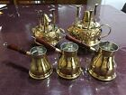 Turkish Coffee Maker, handmade Brass, alcohol burner, and Coffee pot.