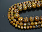 Natural Yellow Tiger Iron Gemstone Round Spacer Beads 15.5'' 6mm 8mm 10mm 12mm