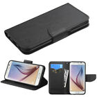 Leather Flip Wallet Case Cover For Samsung Galaxy AMP EXPRESS PRIME J3 SOL SKY