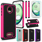 Hybrid Shockproof Cover Rubber Hard Phone Case for Motorola Moto Z Play / Droid