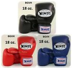 BOXING GLOVES WINDY BGVH 18 oz. BLACK RED BLUE  MUAY THAI FIGHTING MMA  LEATHER