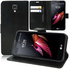 Cover Wallet Case Flip Book Folio support for LG X screen K500N/ X view K500DS