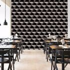 Modern Contracted Wall Covering Contemporary Geometric Vinyl Roll PVC Wallpaper