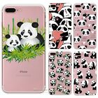 Panda Pattern Rubber Soft TPU Silicone Back Case Cover for Apple iPhone 7 7 Plus