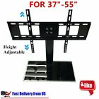 Adjustable Universal TV Stand Pedestal Base Wall Mount Flat Screen TV 2 Sizes MG