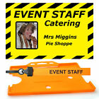 Event  ID Badge and Safety Lanyard Photo or no Photo. Personalised or Generic
