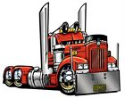 CARTOON  BIG RIG SEMI TRUCK T-SHIRT #9081 KENWORTH HAULER